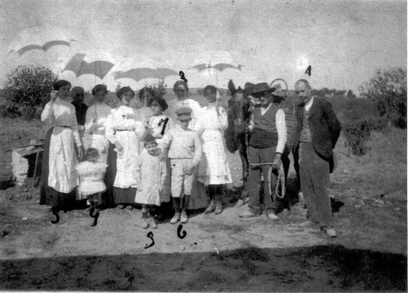 FAMILIA CLARAMÓN EN 1912 EN BADAJOZ