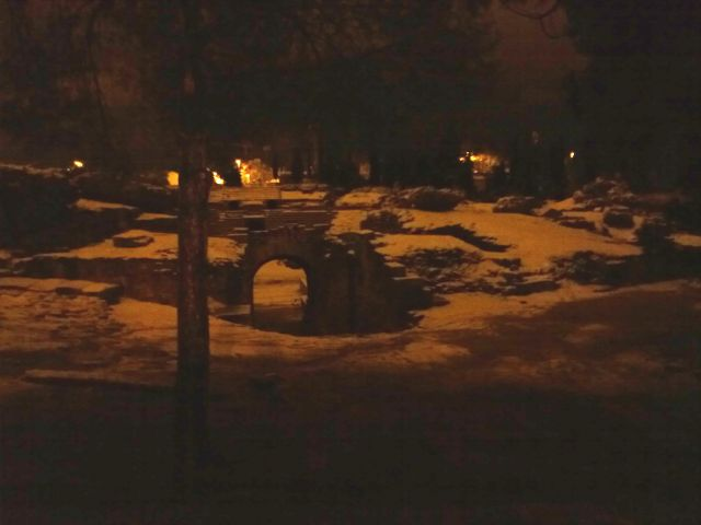Anfiteatro Romano nevado
