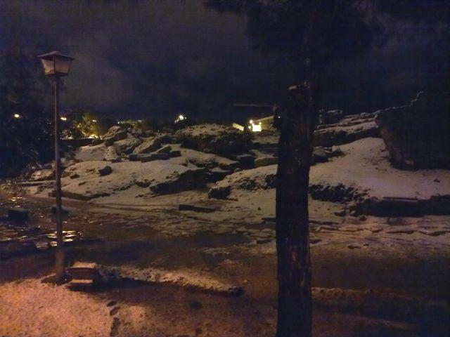 traseras del Anfiteatro nevado