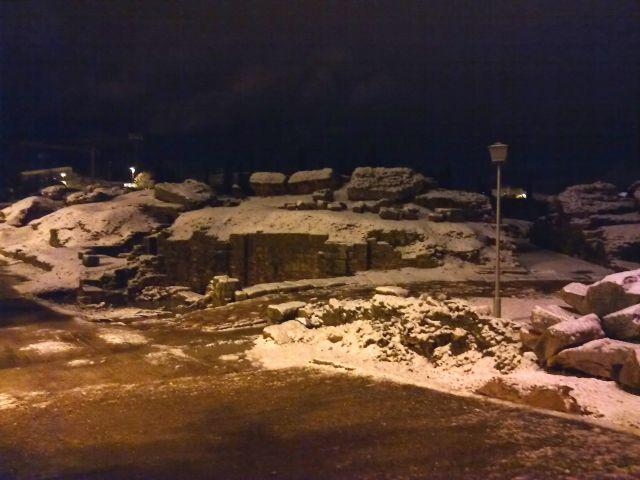 traseras Anfiteatro nevado