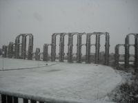Acueducto Los Milagros nevado