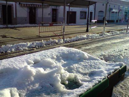 Amanecer nevado en Ribera del Fresno