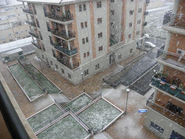 Empezando a nevar