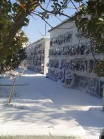 Cementerio de Fuente de Cantos nevado