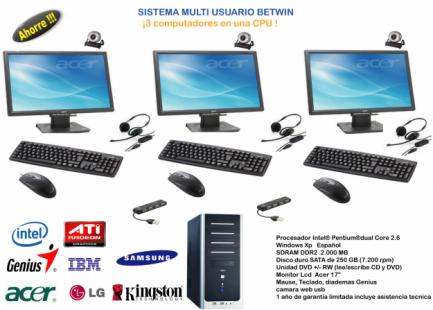 Betwin 3 usuarios