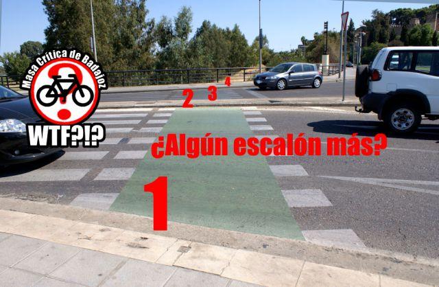 Escalones del paso para ciclistas