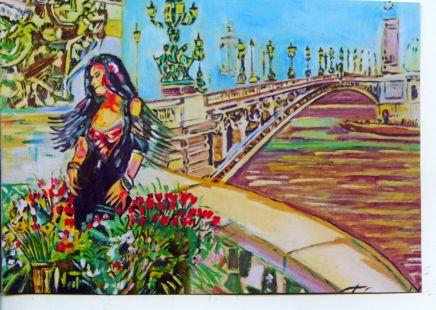 florista ante el rio Sena