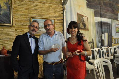 Actuacion de Rosario Abelaira en la caseta el Cortijo Extremeño en la feria de Mérida 2012