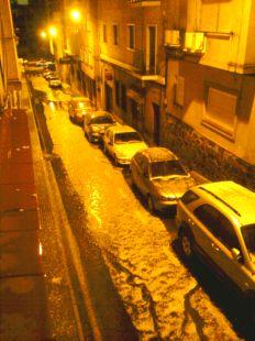 Tormenta y granizada en Cáceres
