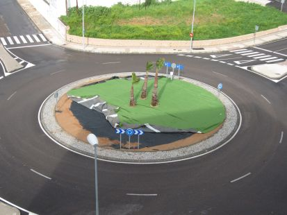 Las nuevas rotondas.