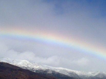 jaraiz de la Vera - hoy con arco Iris