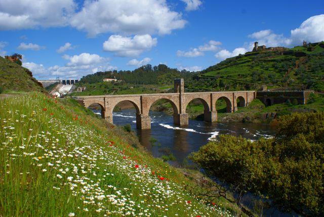 Primavera y mucha agua en Alcántara-Cáceres,