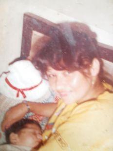 Yashaii Moran y su madre