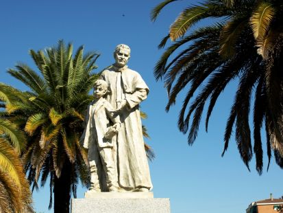 Inauguración del Monumento a Don Bosco