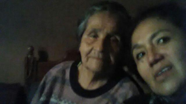 Celestina Felices Hurtado y su sobrina