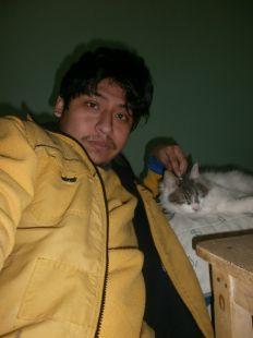 Yashaii Moran and her cat 4