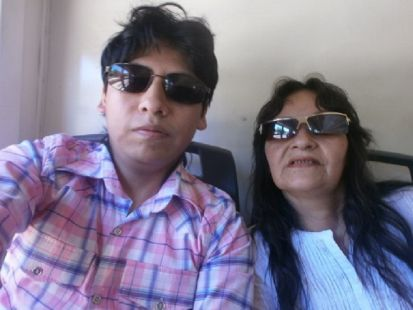 Yashaii Moran and her mother