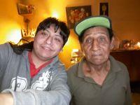 Yashaii Moran y su abuelo Urbano Velásquez Rivas