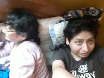 Ana Velásquez Felices y su hijo Yashaii Moran